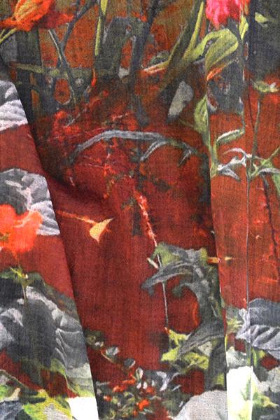 wollen shawl monet garden