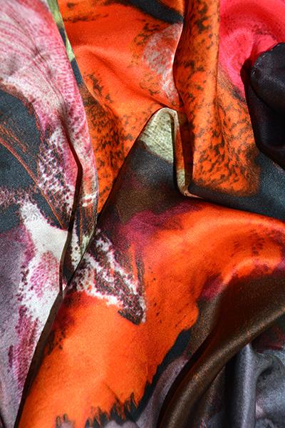 zijden shawl Flowers